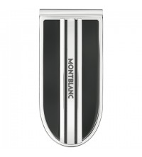 Montblanc Money Clip Stainless Steel with Onyx Inlay