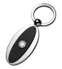 Montblanc Key Fob Oval Metal/leather