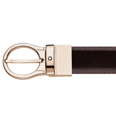 Montblanc pásek - Revolving Red Gold Shiny Pin Spona
