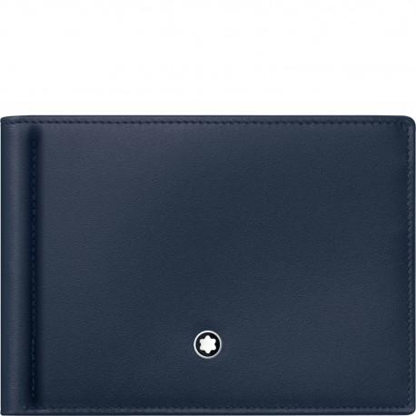 Montblanc Meisterstuck Peněženka 6 kreditních karet  s klipem modrá