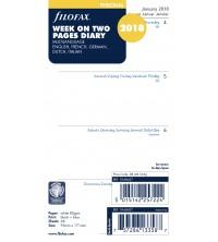 Filofax A6 Personal kalendář 1 týden / 2 strany anglický