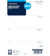 Filofax A5 kalendář 1 týden / 2 strany