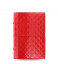 Filofax Domino  Luxe  Red A6 diář
