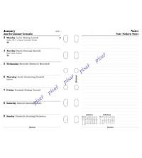 Filofax kalendář Pocket A7 - 1 týden / 1 strana + poznámky