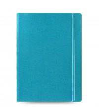 Filofax Notebook A4 akvamarínový