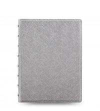 Filofax Notebook A5 stříbrný