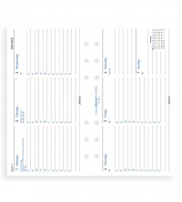 Filofax kalendář A6 Personal - horizontální