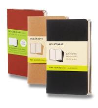 Moleskine Cahier Notes S (A6) čistý tvrdý 3ks