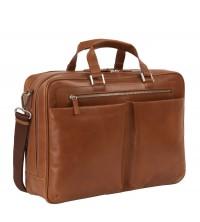Leonhard Heyden Chicago business taška větší hnědá