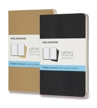 Moleskine Cahier Notes S (A6) tečkovaný tvrdý 3ks