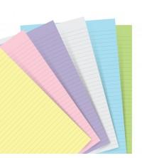 Filofax Náplň A5 pastelový linkovaný papír