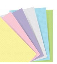 Filofax Náplň A5 pastelový linkovaný papír MIX
