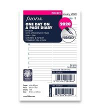 Filofax kalendář A7 Pocket - 1 den/ 1 strana  anglický