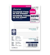Filofax kalendář A7 Pocket -1 týden / 2 strany český a slovenský jazyk