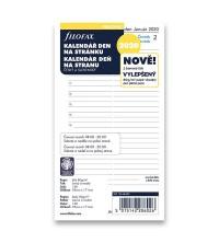 Filofax A6 personal -  náplň 1den /1 strana český a slov. jazyk