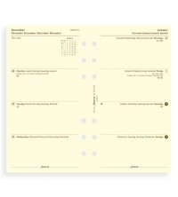 Filofax A6 Personal kalendář 1 týden / 2 strany krémový