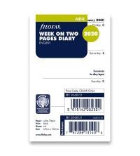 Filofax kalendář Mini - 1 týden / 2 strany anglický
