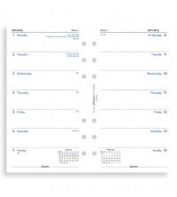 Filofax kalendář osobní 1 týden / 1 strana  anglický