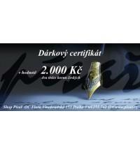 Dárkový certifikát 2.000 Kč