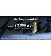 Dárkový certifikát 10.000 Kč